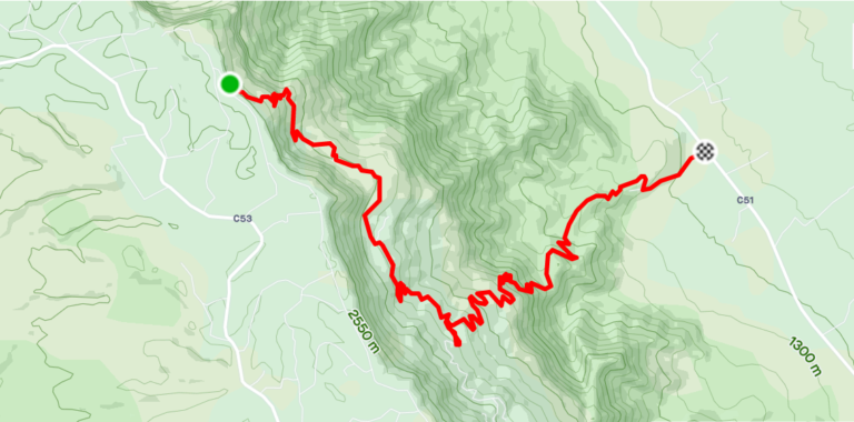 Descent route from Kapkoi